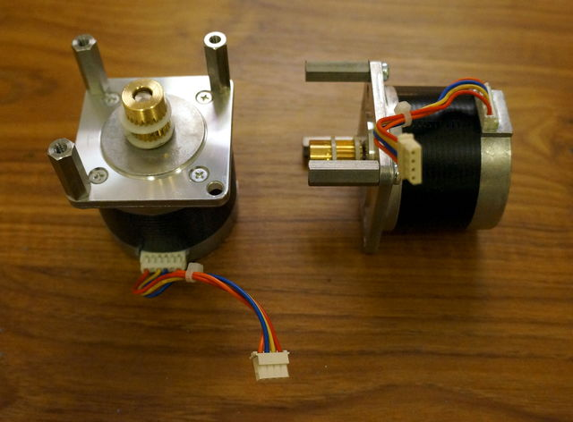 NEMA 23 stepper motors.
